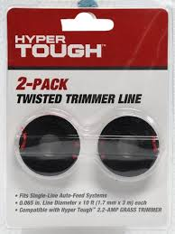 Hyper Tough Twisted Trimmer Line Replacement Spool 2pk