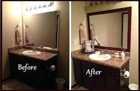 Framing A Bathroom Mirror Bathroom Mirror Frame Framing Bathroom