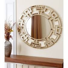 wood wall mirrors. Abbyson Pierre Gold Round Wall Mirror Wood Mirrors S