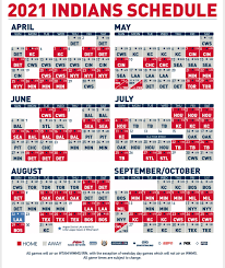 Cleveland Indians 2021 schedule ...