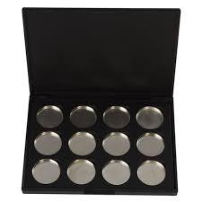 empty magnetic makeup eyeshadow concealer pigment aluminum palette pan makeup