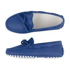 Royal Blue Designer Shoes Tods Royal Blue Leather Moccasins Boys Designer Moccasins