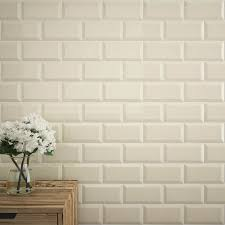 victoria metro wall tiles gloss cream 20 x 10cm medium image