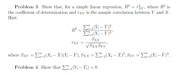 show that for a simple linear regression r