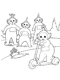 Small Picture Teletubbies Coloring Pages