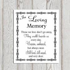 In Memory Quotes Interesting In Loving Memory Wedding Quote Quotes