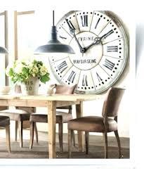 retro kitchen wall clock large clocks elegant impressive build coffee table black square metal skeleton