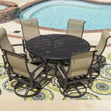 incredible round outdoor dining table for 6 including beautiful