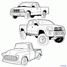 Draw a pickup truck pickup truck step by step drawing sheets