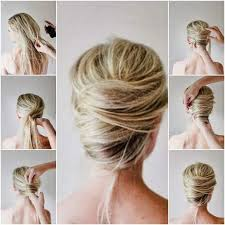thin hair messy updo for shoulder length hair