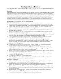 Teachers Resume Objectives Oneswordnet Objective On For Special