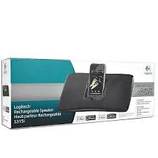 logitech portable speakers. new logitech rechargeable speaker s315i, enjoy portable ipod or iphone speakers r