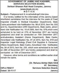 rescheduling an interview jkssb postponement rescheduling of interviews jkssb