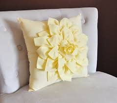 pale yellow pillows. Wonderful Pale Light Yellow Dahlia Flower Pillow Decorative Spring By Bedbuggs Throughout Pale Pillows