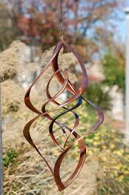 double infinity copper wind sculpture wind spinners