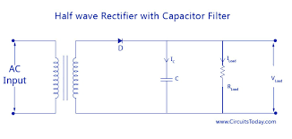 filter circuits working series inductor shunt capacitor rc filter half wave rectifier capacitor filter