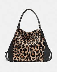 edie shoulder bag 42 with embellished leopard.