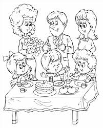 Small Picture Picnic Family Family Coloring Pages Beach Picnic Coloring Page
