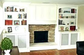 fireplace with bookshelves on each side electric strikingly design shelf