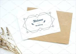 Welcome Card Templates Wedding Welcome Card Templates Template Bingo Printable