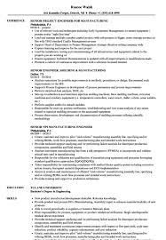manufacturing resume sample resume for manufacturing engineer resume sample
