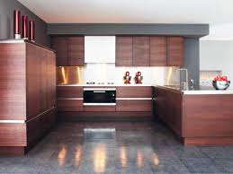 Modern Kitchen Wall Cabinets Charcoal Grey Wall Color With Composite Wooden Cabinet For Modern