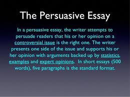 the persuasive essay copy  the persuasive essay 2