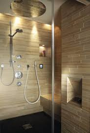 Steam showers; Valley steam shower interior.With RAINMAKER and illuminated  recess.