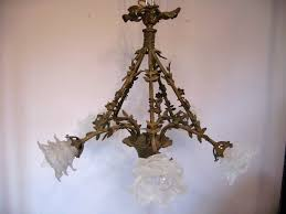 chic french c1910 5 arm flower basket chandelier fully red 386440 ingantiques co uk