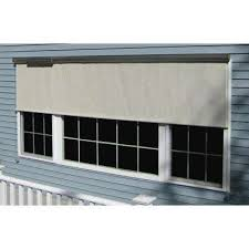 l charcoal horizontal exterior roll up shade