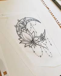 Moon Moontattoo Lotus Lotustattoo Girltattoo рисунки самое