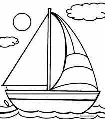 Coloring Page Boat - Eliolera.com