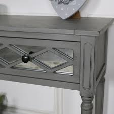 grey mirrored console table vienna
