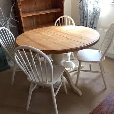 pine round dining table solid pine round dining table and 4 chairs pretty shabby chic style