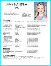 Acting Resume Beginner Magnificent Actor Resume Sample Doc Example Beginners Template Actors Examples