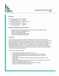 Technical Resume Examples Fresh Civil Supervisor Sample Resume
