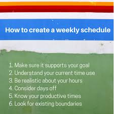 Make A Time Schedule How To Create A Weekly Schedule Planning With Kids