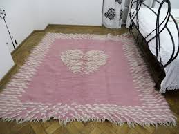 pink rug toddler girl room rug wedding rug handwoven rug pink white area rug heart print rug boho bedding bohemian rugs wool rug pink throws
