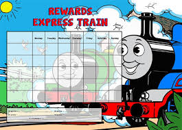 thomas the tank engine a4 magnet reward chart