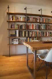 diy bookshelf pipe fitting