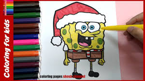 Christmas Coloring Pages Spongebob Christmas Coloring From Coloring