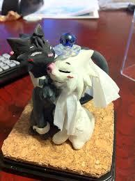 Cat cuple wedding cake topper by Niwa Katuki on DeviantArt