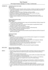 Household Manager Resume House Manager Resume Samples Velvet Jobs 1