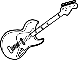 Small Picture Guitar Coloring Pages Printable Virtrencom