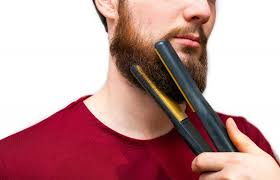 how to straighten your beard at home in