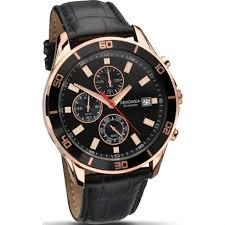 sekonda nightfall black dial chronograph black leather strap mens sekonda nightfall chronograph black dial leather strap mens watch 1051