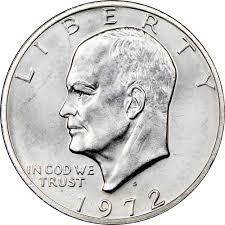 1972 Eisenhower Dollar Value Chart 1972 S Silver 1 Ms Eisenhower Dollars Ngc
