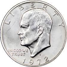 1972 Eisenhower Silver Dollar Value Chart 1972 S Silver 1 Ms Eisenhower Dollars Ngc