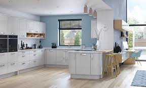 modern white and gray kitchen. Modern Contemporary Zola Gloss Kitchen In Light Grey White And Gray N