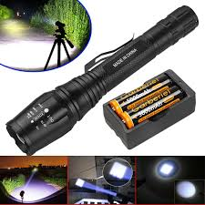 Rechargeable Torch Light Price Details About Tactical 900000lm T6 Led 5 Modes Flashlight Zoom 18650 Rechargeable Torch Light